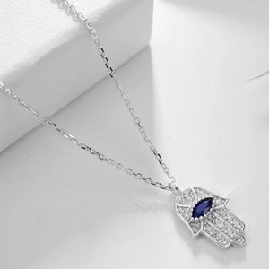 Blue Eye Real 925 Sterling Silver Necklace